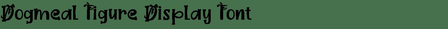 Dogmeal Figure Display Font