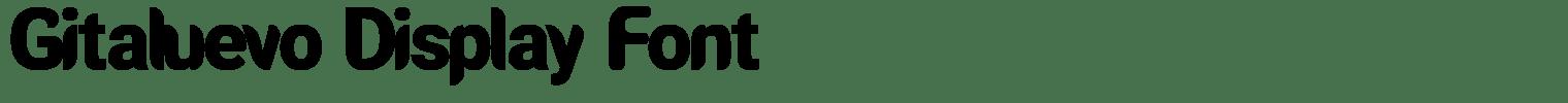 Gitaluevo Display Font