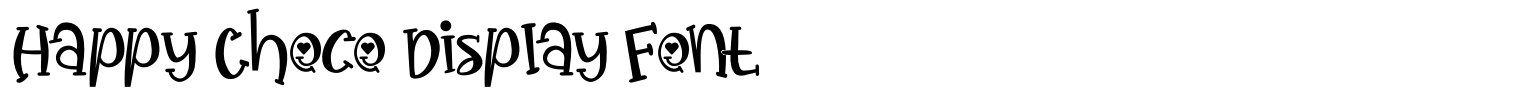 Happy Choco Display Font