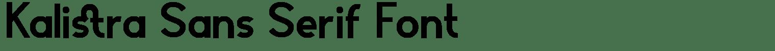 Kalistra Sans Serif Font