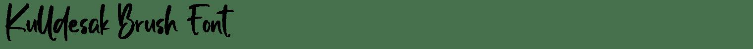 Kulldesak Brush Font