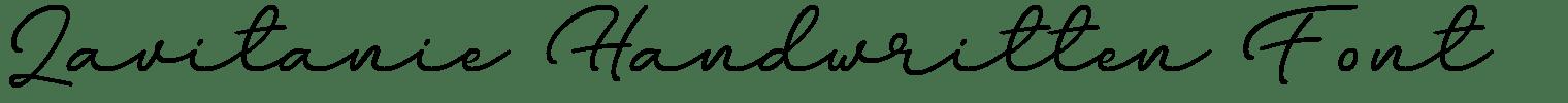 Lavitanie Handwritten Font