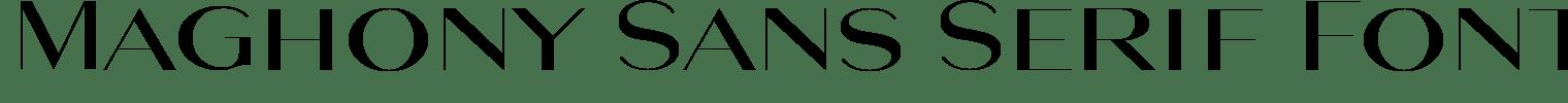 Maghony Sans Serif Font