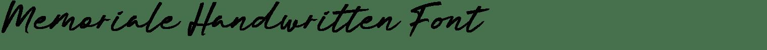 Memoriale Handwritten Font