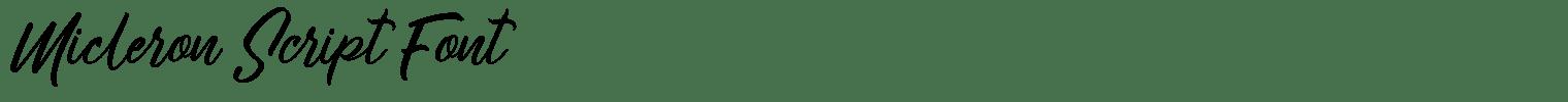 Micleron Script Font
