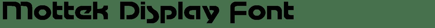 Mottek Display Font