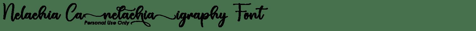 Nelachia Calligraphy Font
