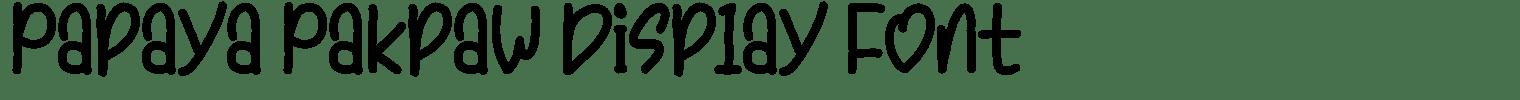 Papaya Pakpaw Display Font
