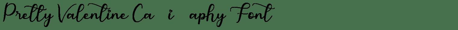 Pretty Valentine Calligraphy Font