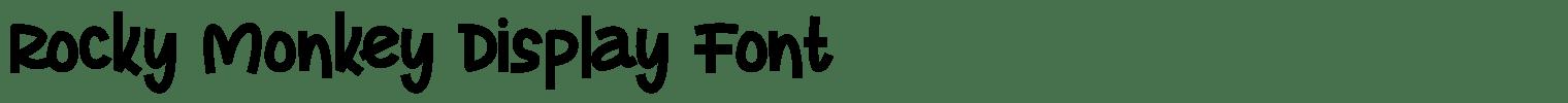 Rocky Monkey Display Font