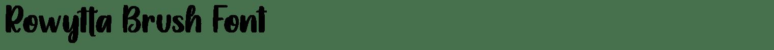 Rowytta Brush Font