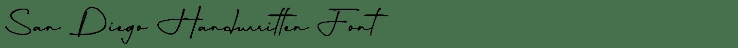 San Diego Handwritten Font