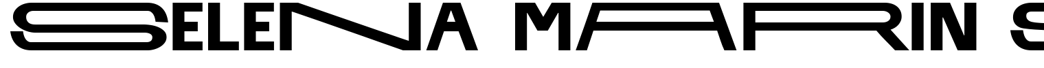 SELENA MARIN Sans Serif Font