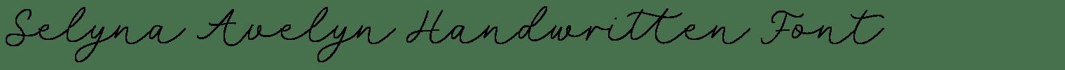 Selyna Avelyn Handwritten Font