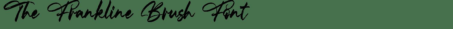 The Frankline Brush Font
