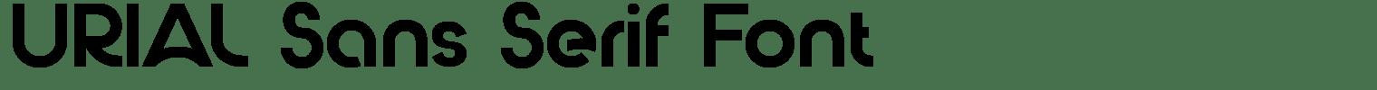 URIAL Sans Serif Font