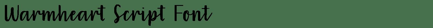 Warmheart Script Font