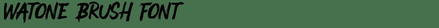 Watone Brush Font