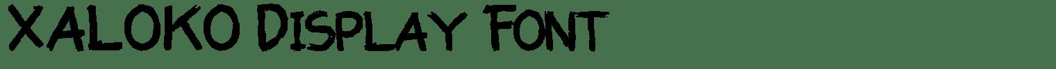 XALOKO Display Font