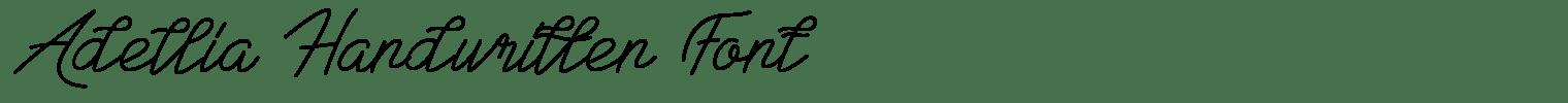Adellia Handwritten Font