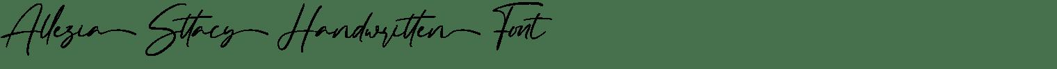 Allezia Sttacy Handwritten Font