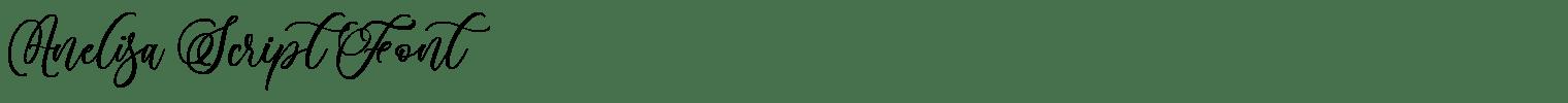 Anelisa Script Font