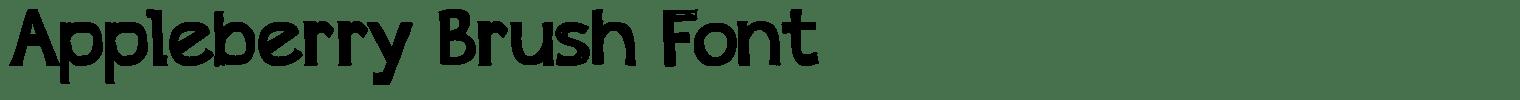 Appleberry Brush Font