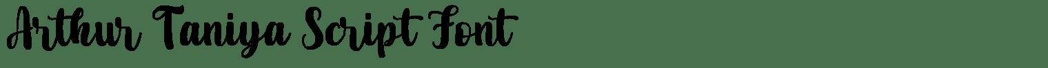 Arthur Taniya Script Font