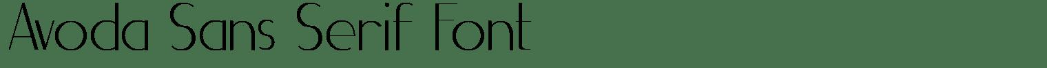 Avoda Sans Serif Font