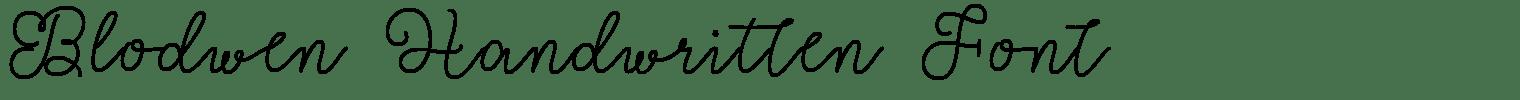 Blodwen Handwritten Font