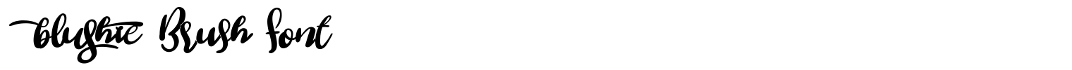 Blushie Brush Font