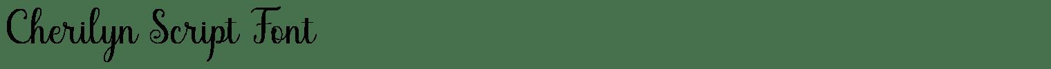 Cherilyn Script Font