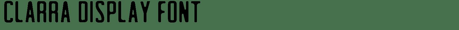 Clarra Display Font