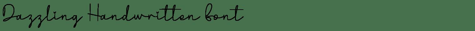 Dazzling Handwritten Font