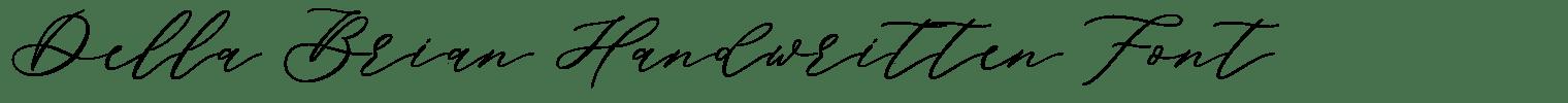Della Brian Handwritten Font