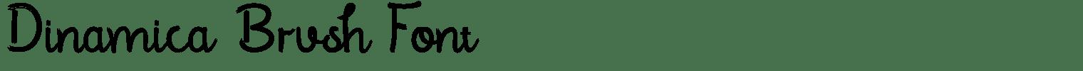 Dinamica Brush Font
