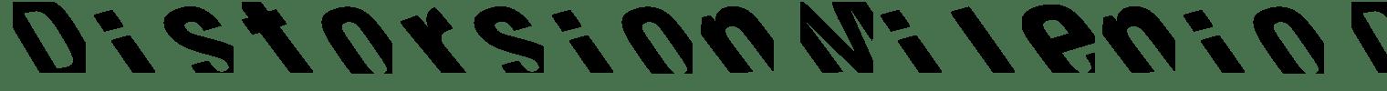 Distorsion Milenio Display Font