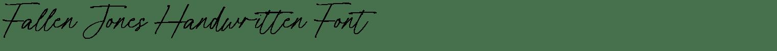 Fallen Jones Handwritten Font