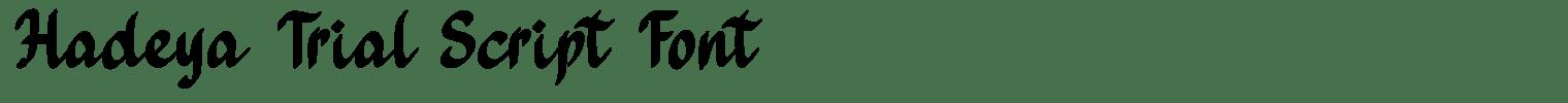 Hadeya Trial Script Font