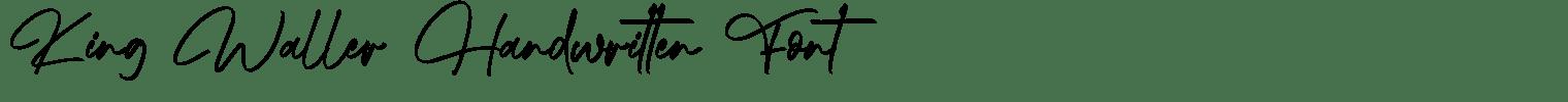 King Waller Handwritten Font