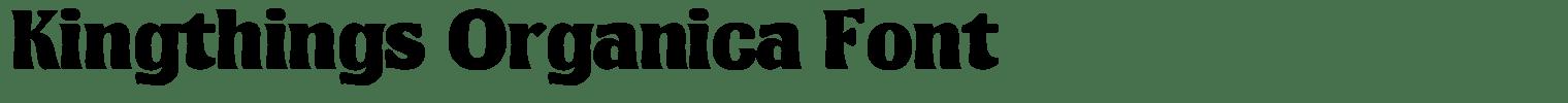 Kingthings Organica Font