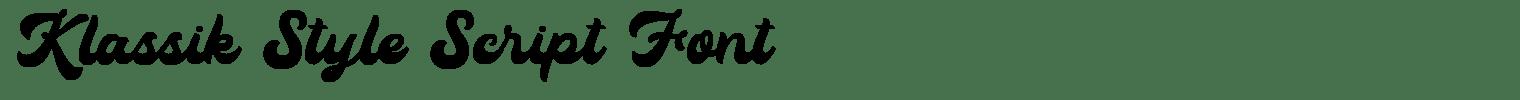 Klassik Style Script Font