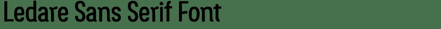 Ledare Sans Serif Font