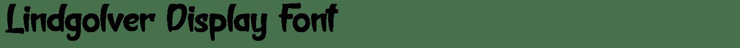 Lindgolver Display Font