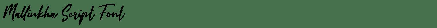 Mallinkha Script Font