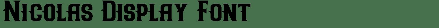 Nicolas Display Font