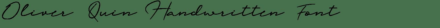 Oliver Quin Handwritten Font