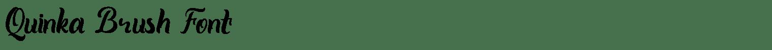 Quinka Brush Font