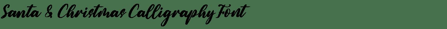 Santa & Christmas Calligraphy Font