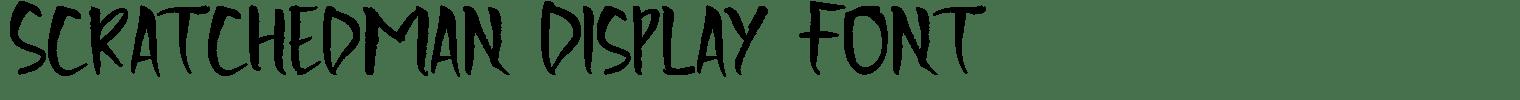 Scratchedman Display Font